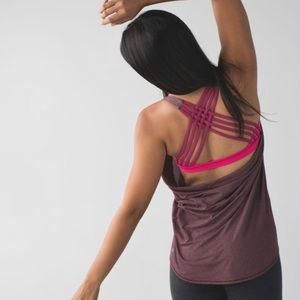 LULULEMON wild tank in heathered bordeaux drama 4